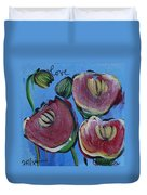 Once Upon A Yoga Mat Poppies 3 Duvet Cover