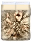 Once Upon Grandmom's Poinsettia Duvet Cover