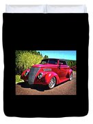 One Cool 1937 Ford Roadster Duvet Cover