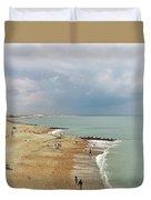 One Cool Beach Day  Duvet Cover