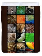 One Day At The Zoo Duvet Cover by Michelle Calkins