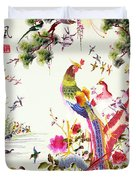 One Hundred Birds With A Phoenix, Canton, Republic Period Duvet Cover