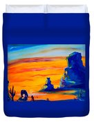 One Lonesome Cowboy Duvet Cover
