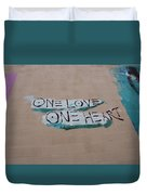 One Love One Heart Duvet Cover