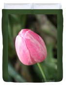 One Lovely Pink Tulip Duvet Cover