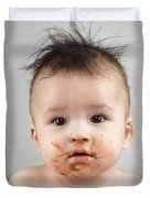 One Messy Baby Boy Duvet Cover by Oleksiy Maksymenko