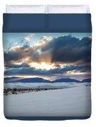 One More Moment - Sunburst Over White Sands New Mexico Duvet Cover