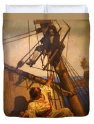 One More Step Mr. Hands - N.c. Wyeth Painting Duvet Cover