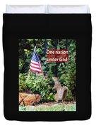 One Nation Under God Duvet Cover