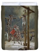 One Of The Soldiers With A Spear Pierced His Side Duvet Cover by Tissot
