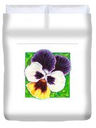 One Pansy For Marti Duvet Cover