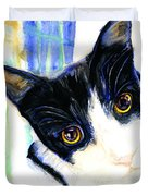 One Paw In Heaven Duvet Cover