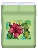 One Pink Hibiscus Duvet Cover