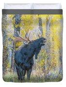 One Proud Bull Moose Duvet Cover