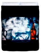 One Red Bottle Duvet Cover by Bob Orsillo