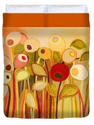 One Red Posie Duvet Cover