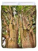 One Tree Six Trunks Duvet Cover