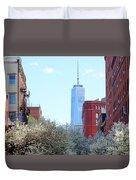 One World Trade Center In Spring Duvet Cover