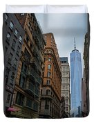 One World Trade Center New York Ny From Nassau Street Duvet Cover