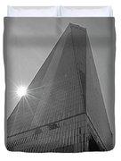 One World Trade Center New York Ny Sunset Black And White Duvet Cover