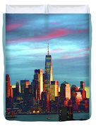 One World Trade Sunset Spectacle Duvet Cover