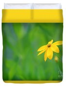 One Yellow Coreopsis Flower Duvet Cover
