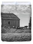 Ontario Farm 4 Bw Duvet Cover