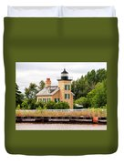 Ontonagon Lighthouse Duvet Cover