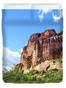 Onward And Upward At The Superstition Mountains Of Arizona Duvet Cover