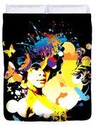 Onxy Doves - Bespattered Duvet Cover