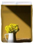 Good Morning Sunshine- Rapeseed Flowers And White Mug   Duvet Cover