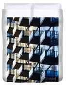 Tiered Balconies Duvet Cover