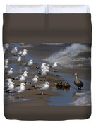 Ducklings In Trouble - Oops Not Into Diversity Duvet Cover