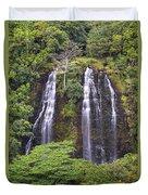Opaekaa Falls - Kauai Duvet Cover