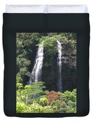 Opaekaa Falls On Kauai Before A Storm Duvet Cover