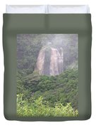 Opaekaa Falls On Kauai During A Storm Duvet Cover