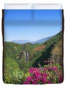 Opaekaa Falls Duvet Cover