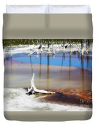 Opalescent Pool Yellowstone Np Duvet Cover