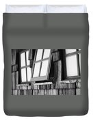 Open Black And White Duvet Cover