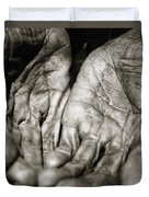 Two Old Hands Duvet Cover