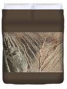 open pit mine Kennecott, copper, gold and silver mine operation Duvet Cover