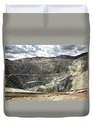 Open Pit Mine, Utah, United States Duvet Cover