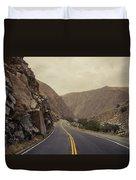 Open Road Through The Canyon Duvet Cover