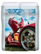 Open Sesame Red - Lamborghini Diablo  Duvet Cover