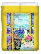 Open Window-colours Duvet Cover