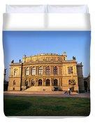 Opera House, Prague Duvet Cover