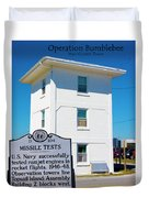 Operation Bumblebee Control Tower Duvet Cover