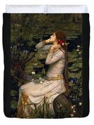 Ophelia Duvet Cover by John William Waterhouse