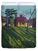 Opinicon Cottages In Autumn Duvet Cover