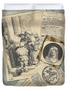 Optical Illusion With Prints And Pamphlets, L. Groskopf, C. 1746 Duvet Cover